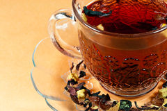 Lets have a cup of tea!. Nice clear cup of tea with delicious tea Stock Photography