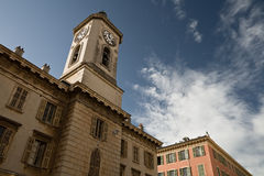 Nice. Clock on tower. France. Old Nice. Clock on tower Stock Image