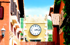 Nice clock on wall Stock Photos
