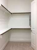 Nice closet for clothing. In a new house , TX USA stock image