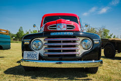 Nice closeup front view of classic vintage pick up truck Stock Photos