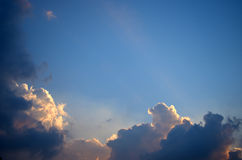 Nice cloud in blue sky Stock Images