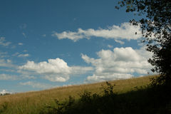 Nice clouds. On blue sky Stock Photo