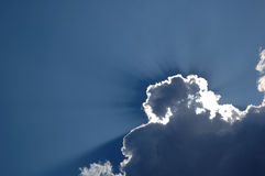 Nice clouds on a clear sky Royalty Free Stock Photography