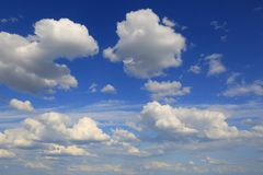 Nice clouds in sky royalty free stock image