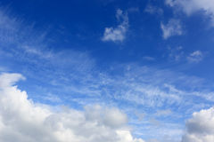 Nice clouds in sky Stock Image