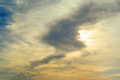 Nice clouds with sunset sky Royalty Free Stock Photos