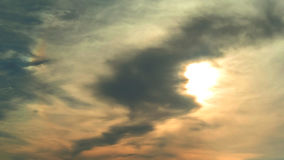 Nice clouds with sunset sky Royalty Free Stock Photography