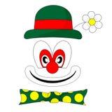 Nice clown. Cartoon of a smiling clown Stock Photos