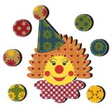 Nice clown on white Royalty Free Stock Images