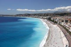 Nice Coastline. Nice, France landscape Stock Photo