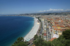 Nice coastline and beach with blue sky in France Stock Image