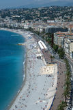 Nice coastline and beach with blue sky in France Royalty Free Stock Photo