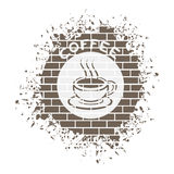 Nice coffe symbol Royalty Free Stock Photo