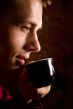 Nice coffee drinking Royalty Free Stock Images