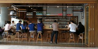 Nice coffee and restaurant in Bangkok. Nice and well looked coffee and restaurant is very trendy for working people and tourist Stock Image