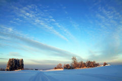 A nice cold winter's day in Bavaria Stock Images