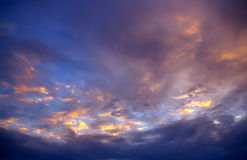 Nice color cloudy sky Stock Images