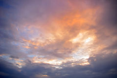 Nice color cloudy sky Royalty Free Stock Photos