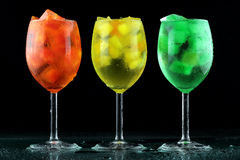 Nice color drinks with ice royalty free stock photography