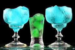 Nice color drinks with ice Stock Images