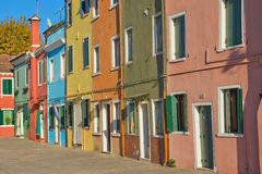 Nice color houses in row (horizontally) Royalty Free Stock Image