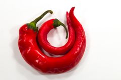 Red hot chili peppers. Nice color peppers food Stock Image