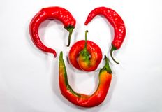 Red hot chili peppers. Nice color peppers food Stock Photo