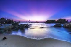 Nice color rays Ke Ga rocks welcomes new day Royalty Free Stock Image
