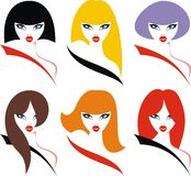 Nice color womans Stock Image