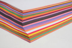 Nice colored construction papers. On white Stock Photography