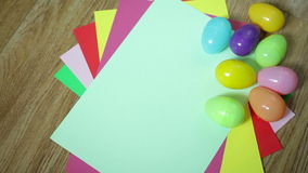 Nice colorful background with Easter eggs Royalty Free Stock Images