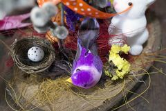 Nice colorful easter decorations in my room Stock Photo