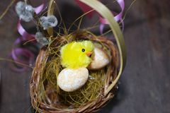 Nice colorful easter decorations in my room Stock Photos