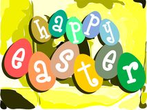 Nice colorful Easter greeting card Royalty Free Stock Image