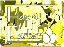 Nice colorful Easter greeting card Stock Photos