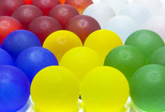 Nice Colorful Frosted Glass Beads Background Royalty Free Stock Photos