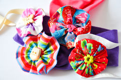 Little girl brooches Royalty Free Stock Images