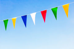 Colorful pennants Stock Image
