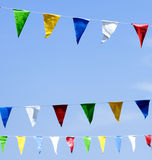 Colorful pennants Royalty Free Stock Image