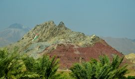 Nice colorful rock in hatta Stock Photo