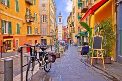 Free Nice Colorful Street Architecture And Church View Stock Image - 137400621