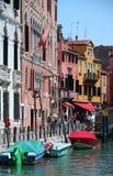 Nice coloured street in Venetia Stock Photos