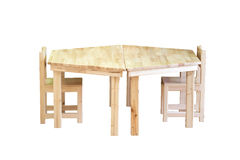 Nice and comfortable wooden kids chair and table set Stock Photo