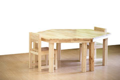 Nice and comfortable wooden kids chair and table set Stock Image