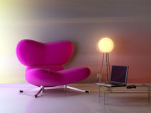Nice composition. а modern 3d interior composition with lamp Stock Photo
