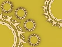 Nice composition, gold ornamented frames Royalty Free Stock Photography