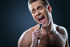 Nice concept for male beauty royalty free stock photography