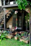 Nice conner for sit beside garden. Thai garden Stock Image