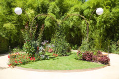Nice corner in a big garden Royalty Free Stock Photos